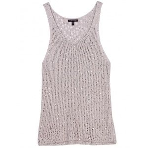 Eileen Fisher Sequin Chainmail Mesh Tank L